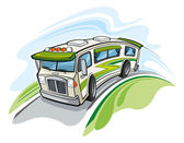 Illustration of Recreational vehicle — Stock Vector