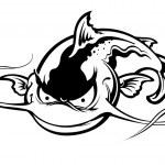 Black Catfish character — Stock Vector #73636711