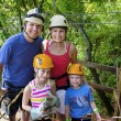 Family enjoying a Zipline Adventure — Stock Photo #57703903
