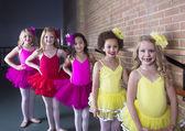 Cute young ballerinas at a dance studio — Stock Photo