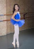 Beautiful Teenage ballerina dancer full length — Stock Photo
