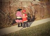 Halloween kids Trick or Treat — Stock Photo