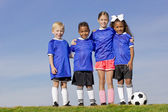 Young Kids on a Soccer Team — Stock Photo