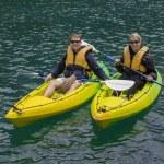 Happy Couple Kayaking — Stock Photo #65752761