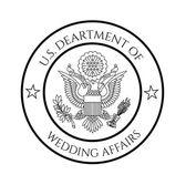 Wedding affairs fake seal — Stock Vector