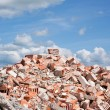 Concrete and brick rubble derbis on construction site — Stock Photo #52129813