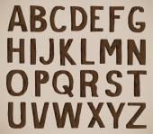 Alphabet bois — Vecteur