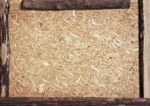 Recycled compressed wood chipboard — Stock Photo