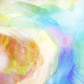 Painted colorful watercolor background. — Photo