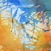 Abstract colorful painted watercolor splash and stain — Foto Stock