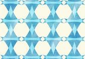 Blue triangle, lozenge watercolor pattern. — 图库矢量图片