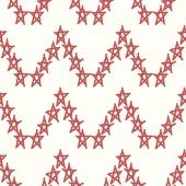 Red stars vector textile backdrop. Can be used as fabric pattern. — Stock Vector
