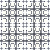 Symmetrical geometric shapes black and white vector textile backdrop. Can be used as fabric, tablecloth pattern. — Stock Vector
