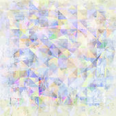 Painted abstract geometric background from watercolor triangle on paper texture — Vector de stock