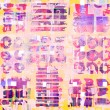 Pattern of colorful abstract geometric shapes, watercolor brush strokes and circle — Stock Photo #76015019