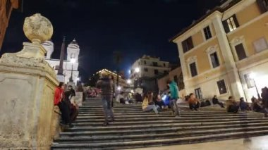 Rome Piazza di Spagna Spanish Steps Timelapse — Stock Video