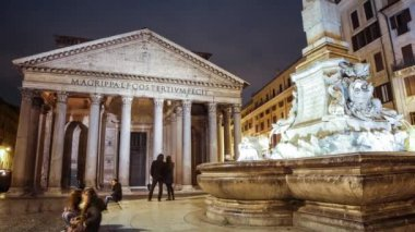 Pantheon Rome Time Lapse — Stock video