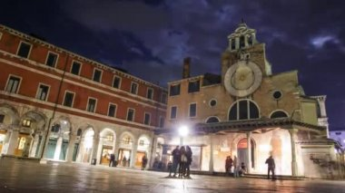 A night scene from Venice — Stockvideo