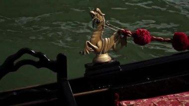 Gondel in Venedig — Stockvideo