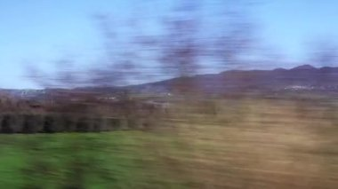 View from train Window — Stock Video