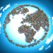 People seen from above forming the earth globe shape — Stock Photo #68536025