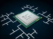 Modern multicore CPU — Stock Photo