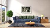 Interior with sofa. 3d illustration — Stock Photo