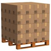 Packet pallet — Stock Photo