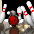 Knocking down bowling — Stock Photo #67792403