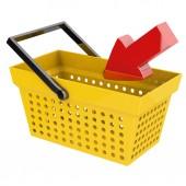 Basket with arrow — Stock Photo