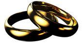 Gold wedding rings — Stock Photo