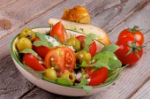 Salada de tomate — Foto Stock