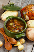 Soup with Chanterelle Mushrooms — 图库照片