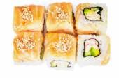 Salmon Maki Roll — Stock Photo