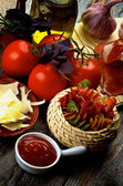 Pasta and Ingredients — Stock Photo