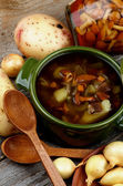 Soup with Chanterelle Mushrooms — Stockfoto