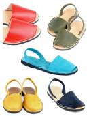 Collection of Sandals — Stock Photo
