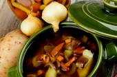 Soup with Chanterelle Mushrooms — Stock Photo