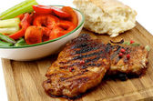 Roasted Steaks and Vegetables — Stock Photo