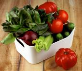 Box with Vegetables — Stock Photo