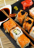 Various Maki Sushi — Stock Photo
