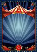 Fun night circus poster — Stock Vector