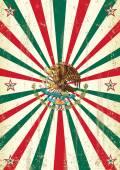 Retro mexican sunbeams poster — Stock Vector