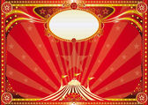 Horizontal red circus background — Stock Vector
