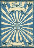 Blue circus retro — Stock Vector