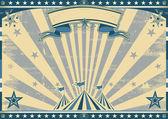 Horizontal retro blue circus — Stock Vector