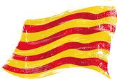 Catalan grunge flag — Stock Vector