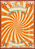 Orange circus retro — Stock Vector