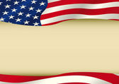 American waving flag — Stock vektor