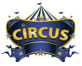 Blue circus sign — Stock Vector